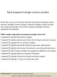 Proposal Manager   LinkedIn