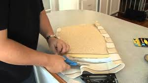 recovering a seat cushion on a chair youtube