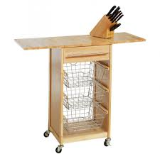 captivating island expandable hardwood kitchen cart with drop leaf