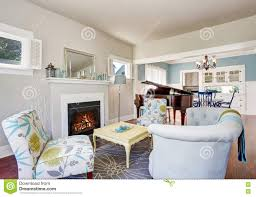 Designing Living Rooms With Fireplaces Modern Living Room Interior With Fireplace And Piano At The