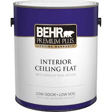 behr premium plus 1 gal flat interior ceiling paint 55801 the