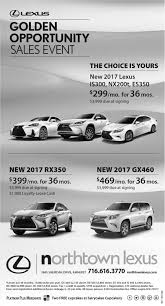 lexus for sale rochester ny golden opportunity sales event northtown lexus buffalo ny