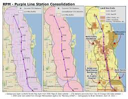 Public Transit Chicago Map by Chicago Cta Rpm Station Consolidation Analysis Part I Purple