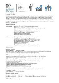 Job Duties On Resume by Assistant Manager Resume Retail Jobs Cv Job Description