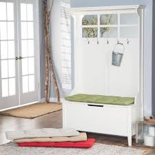 White Entryway Table by Home Styles Naples White Hall Tree With Storage Bench Hayneedle