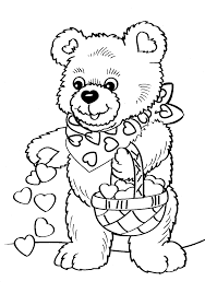 coloring pages kitty valentines printable valentine