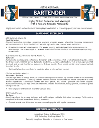 Oilfield Resume Objective Examples by Bartender Resume Objective Examples Free Resume Example And