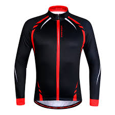 red cycling jacket wosawe men u0027s cycling jacket thermal fleece jerseys bike bicycle
