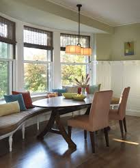 banquette bench seating dining kitchen traditional with