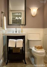 beige bathroom interior design idea with perfect black wood vanity