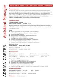 Sample Resume For Retail Manager by Assistant Retail Manager Resume Store Manager Resume Retail