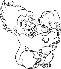 disney baby tarzan coloring pages wecoloringpage