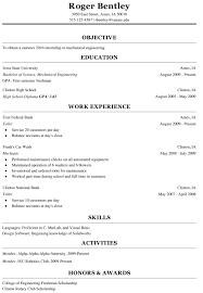 sample resume for undergraduate college student
