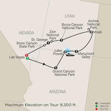 Antelope Canyon Arizona Map by Enchanting Canyonlands Tour Globus
