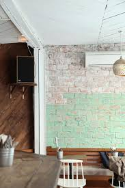 Fake Exposed Brick Wall 92 Best Interiors Bar Restaurant Images On Pinterest