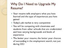 On Campus Job Resume by Upgrading Your Resume For On Campus Interviews Oci Ppt Video