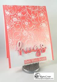 Ombre Background Cards By Regina Ombre U0027 Emboss Resist Background Technique