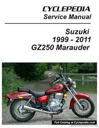 suzuki gz250 marauder cyclepedia printed service manual ebay