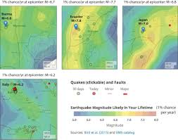 what do the destructive ecuador japan burma and italy quakes