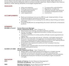 Resume Sample For Human Resource Position by Winsome Ideas Hr Resume Examples 8 Best Human Resources Manager