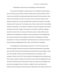 frankenstein and the pursuit of knowledge in the