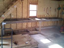 Plans For Building A Wooden Workbench by How To Build A Garage Workbench Wooden Garage Workbench