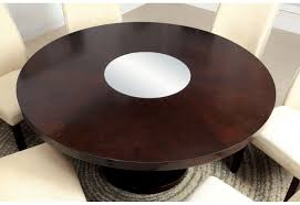 Round Wooden Table Top View Cm3556 Round Top Solid Wood With Mirror Dining Table Set Espresso