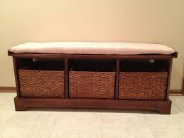 oak storage bench with cushion oak storage bench for more