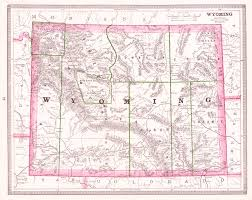 Wyoming Map Usa by Maps Antique United States Us States Wyoming