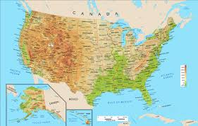 State Map United States by Usa Map Population Transportation Physical Map Usa Map Us Wall Us