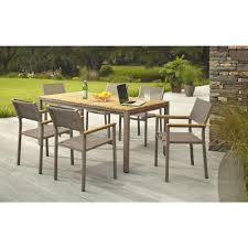 Discount Teak Furniture Hampton Bay Barnsdale Teak 7 Piece Patio Dining Set Set T1840