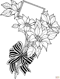 poinsettia coloring page omeletta me