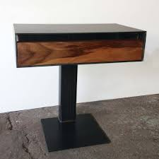 furniture excellent glass nightstand on wheel using wooden
