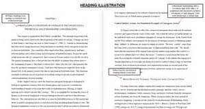 Writing an APA Style Research Paper Chapter     General Guidelines     Example of First Level of Headings in APA Style