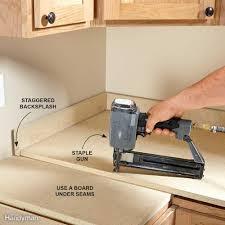 install a laminate kitchen countertop family handyman installing laminate countertops