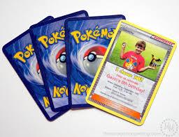 Printable Invitation Card Stock Pokémon Card Birthday Invitation The Scrap Shoppe
