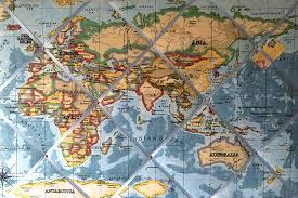 World Map Pinboard extra large 90x60cm prestigious blue world map atlas hand