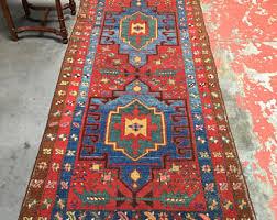 3x10 Rug Antique Persian Rug 5x7 Lilihan Authentic Armenian Folk Art