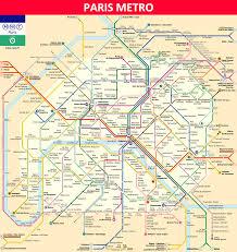 Metro Lines Map by Paris Metro Maps Timetables Tourist Information