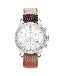 Burberry Home Decor Burberry House Check Leather Strap Round Watch 42mm Bloomingdale U0027s