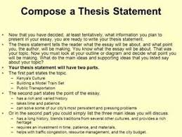 Personal essay thesis statement examples