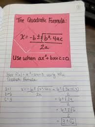 Quadratic Formula Interactive Notebook Page Math   Love