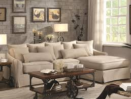 Furniture Stores In Asheboro Nc Coaster Knottley Slipcovered Sectional Sofa With Chaise And