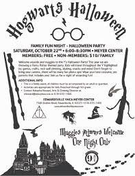 harry potter halloween party events ymca edwardsville