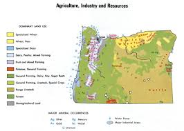 Oregon Map by Agriculture And Industry Map Of Oregon
