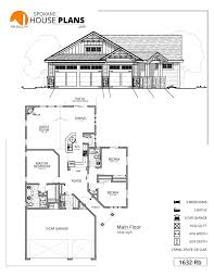 Garage Depth 1632 Rb Spokane House Plans