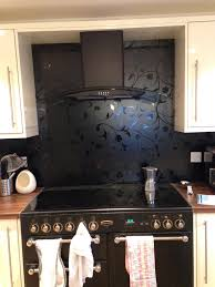 idea to put wallpaper as splashback with clear glass over the top idea to put wallpaper as splashback with clear glass over the top