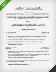Job Duties On Resume by Bartender Resume Sample Resume Genius
