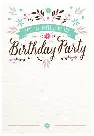 Free E Card Invitations Flat Floral Free Printable Birthday Invitation Template