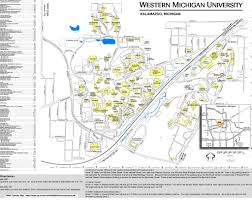 Map Of University Of Michigan by Map Of Western Michigan University Michigan Map